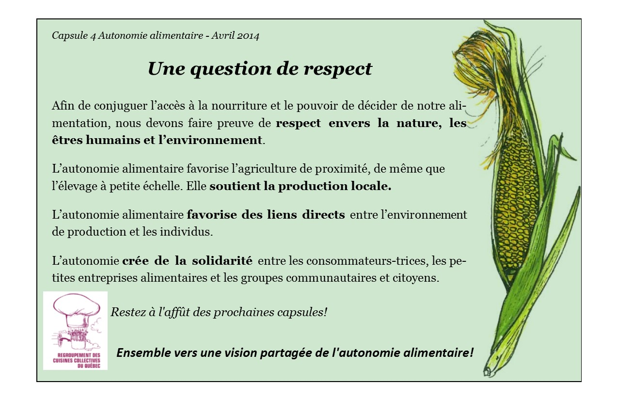 Capsule 4 - Une question de respect