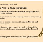 Capsule - Access to food - a basic ingredient!